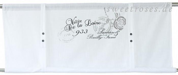 rollo raffrollo roll gardine loire 140x100 wei franske shabby vintage landhaus ebay. Black Bedroom Furniture Sets. Home Design Ideas