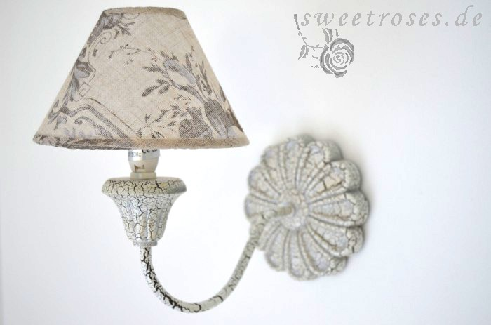 wandlampe leuchte lampe camille creme vintage shabby chic landhaus stil neu ebay. Black Bedroom Furniture Sets. Home Design Ideas