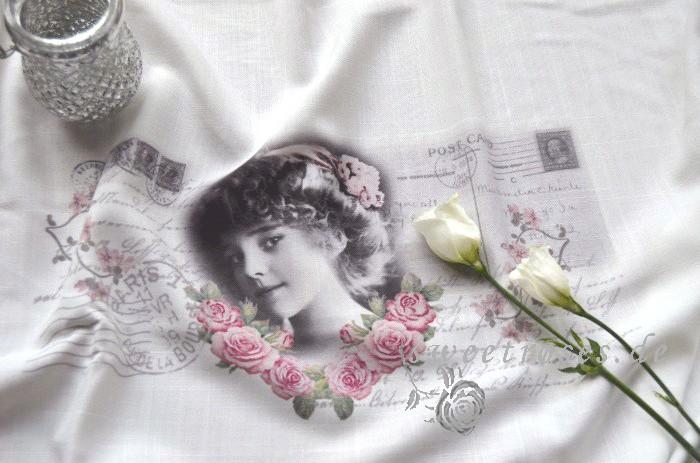 Rollo Raffrollo Roll Gardine140x90French GirlShabby ChicLandhausVintageNEU # Stilvolle Vintage Kommode Französischer Landhausstil